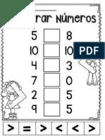Comparar Numeros Hasta 10 Taller