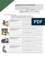 Prueba Diagnostica Te4cnologia 5 Basico