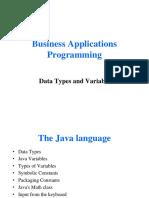 BAP_Lec2Data Types and Variable