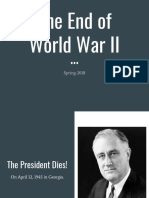 end of world war ii atomic bomb