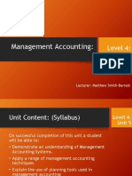 Different Types of Management Accounting Systems