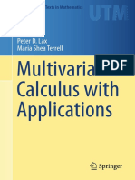 Multivariable Calculus With Applications - Lax