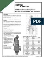Bronze Safety Relief Valves-Models SV5601 SV5708-Technical Information