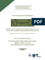 Programa General de Actividades III Coloquio Nacional Dialogos