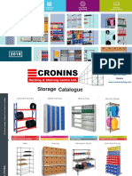 Cronins Racking & Shelving Centre Storage Catalogue 2018