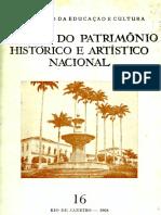 Revista Do Patrimônio- 1968