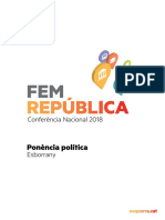 Ponència base de la conferència nacional d'ERC del 2018