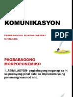 Komunikasyon Pagbabagong Morpema at Sintaktiks