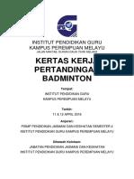 Paper Work- Badminton 2
