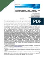 INTERVENÇÃO COGNITIVO-COMPORTAMENTAL PARA CRIANÇAS COM  DIFICULDADES PSICOLINGUÍSTICAS