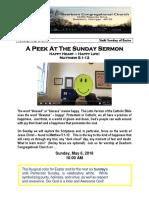 Pastor Bill Kren's Newsletter - May 6, 2018