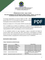 Comunicado 017 2018 - Relacao Definitiva Das Inscricoes Homologadas