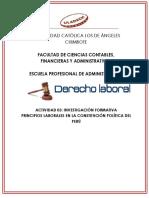PRINCIPIOS LABORALES EN LA CONSTITUCIÓN POLÍTICA DEL PERÚ