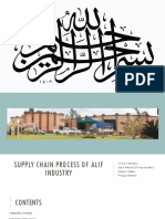 Presentation on Alif Industry