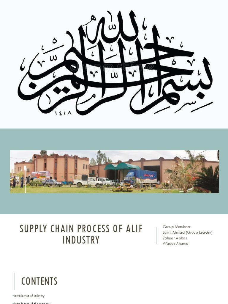 Presentation on Alif Industry | Warehouse | Strategic Management