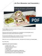 Wrap de Pechuga de Pavo Bonnatur Con Guacamole y Queso