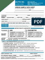 Beta Analytic Data Sheet