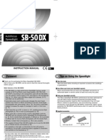 English manual for Nikon SB50dx Flash