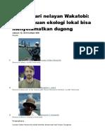 Belajar Dari Nelayan Wakatobi