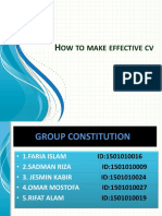 How to Make Effective Cv