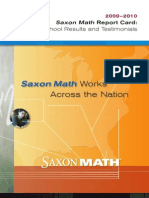 Saxon Math Report Card 2010 HR