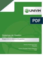 U1A1 Etapas de Un Sistema de Gestión