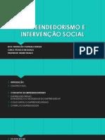 Empreendedorismo e Intervenção Social