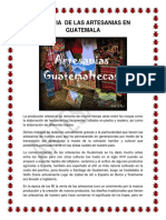 Historia de Las Artesanias en Guatemala Soila