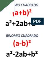 BINOMIO CUADRADO