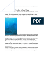 Creating Artificial Reefs