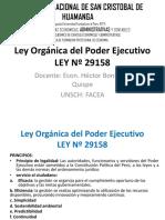 Ley Orgánica Del Poder Ejecutivo