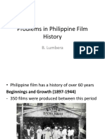 Problems in Philippine Film History