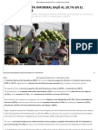 Tasa de Ocupación Informal Bajó Al 29,1% en El Último Trimestre _ La Nación