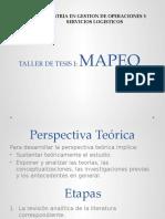 Técnicas de Mapeo- Investigación