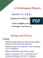 Introduction to Biophysics