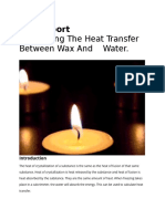 calculating the heat transfer between wax and water - anthony borrelli
