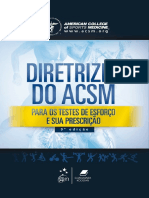 Diretrizes do ACSM para os Testes de Esforço e sua Prescrição
