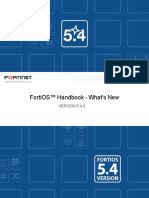 FortiOS Handbook Version 5.4.0 What's New