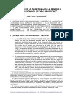 CHIARAMONTE Soberanía en La Génesis Del Estado Argentino Chiaramonte