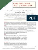 NEJM-Tenecteplase Versus Alteplase Before Thrombectomy