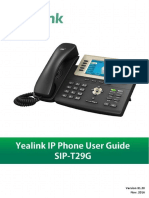 Yealink SIP-T29G User Guide V81 20