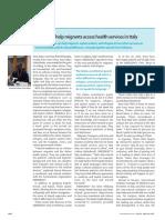 Migranti e Accesso Alle Cure