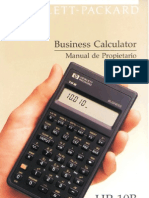 instrucciones calculadora financiera Hewlett Packard HP10B