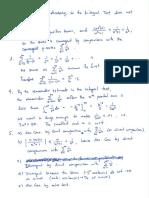 Calc 2 Solutions for Integrals