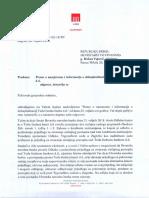 Odgovor HNB-a Ministarstva financija RS