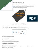 Cómo Calcular El Precio de Venta de Un Producto