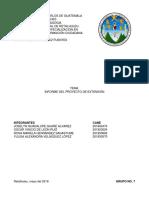Informe de Extensión