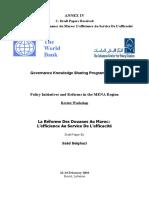 Rapport Banque Mondiale Sur La Réforme de la douane