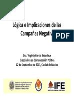 Virginia Garcia Beaudoux s Campaña Negativa
