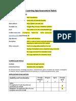 mobile learning app assessment rubric - exemplar